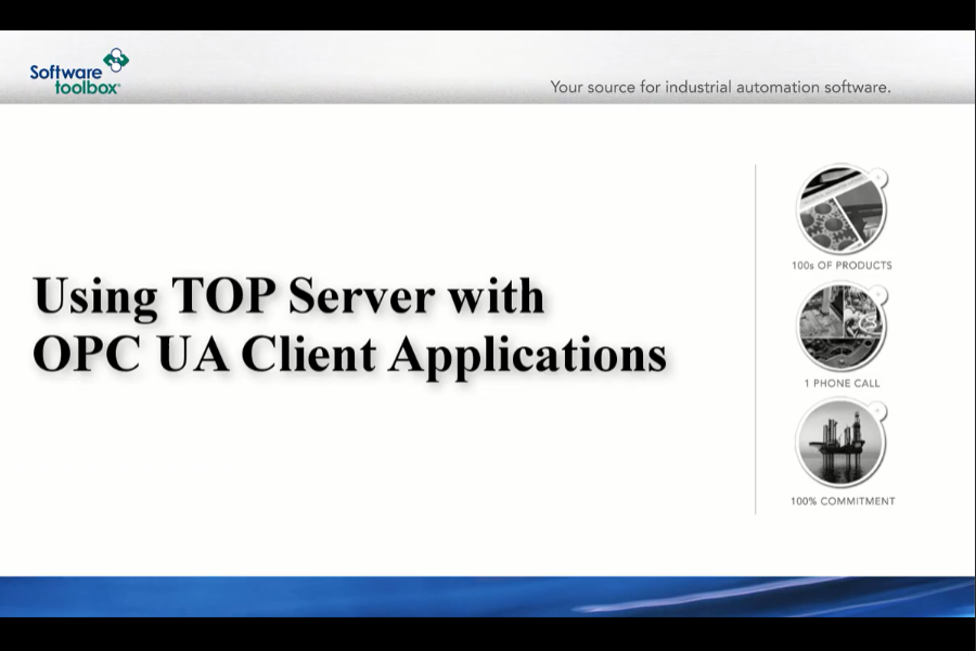 TOP Server OPC Server视频教程:TOP Server与OPC UA客户端一起使用