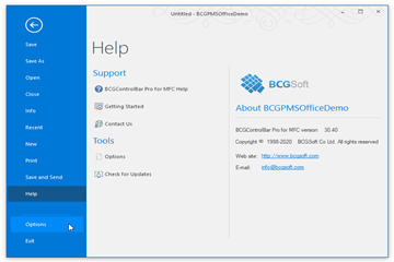 MFC界面库BCGControlBar v30.4新功能全解:工具栏和图表控件
