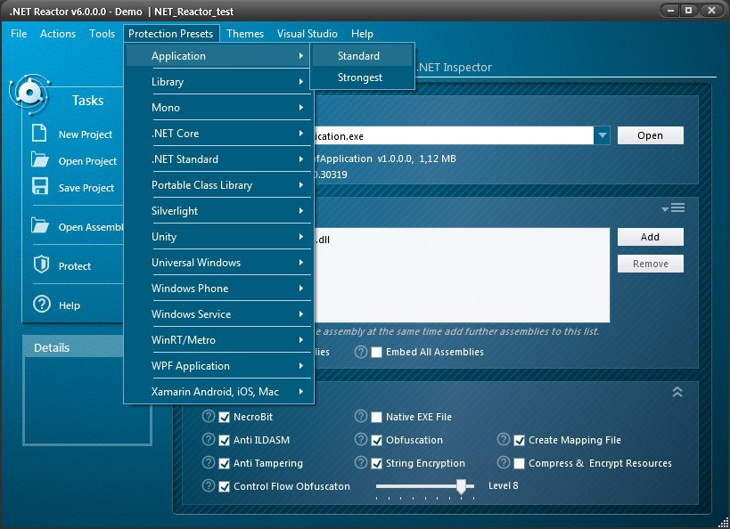 .NET Reactor预览:加密选项