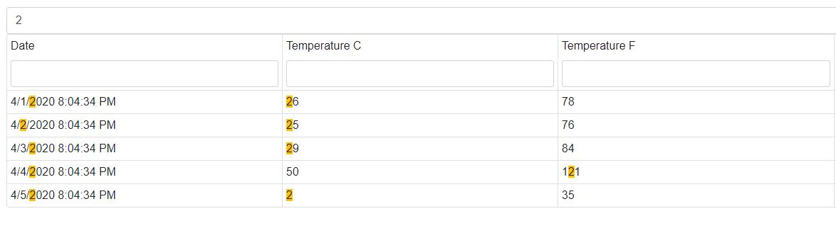 DevExpress 示例:DataGrid for Blazor - 如何实现外部搜索面板