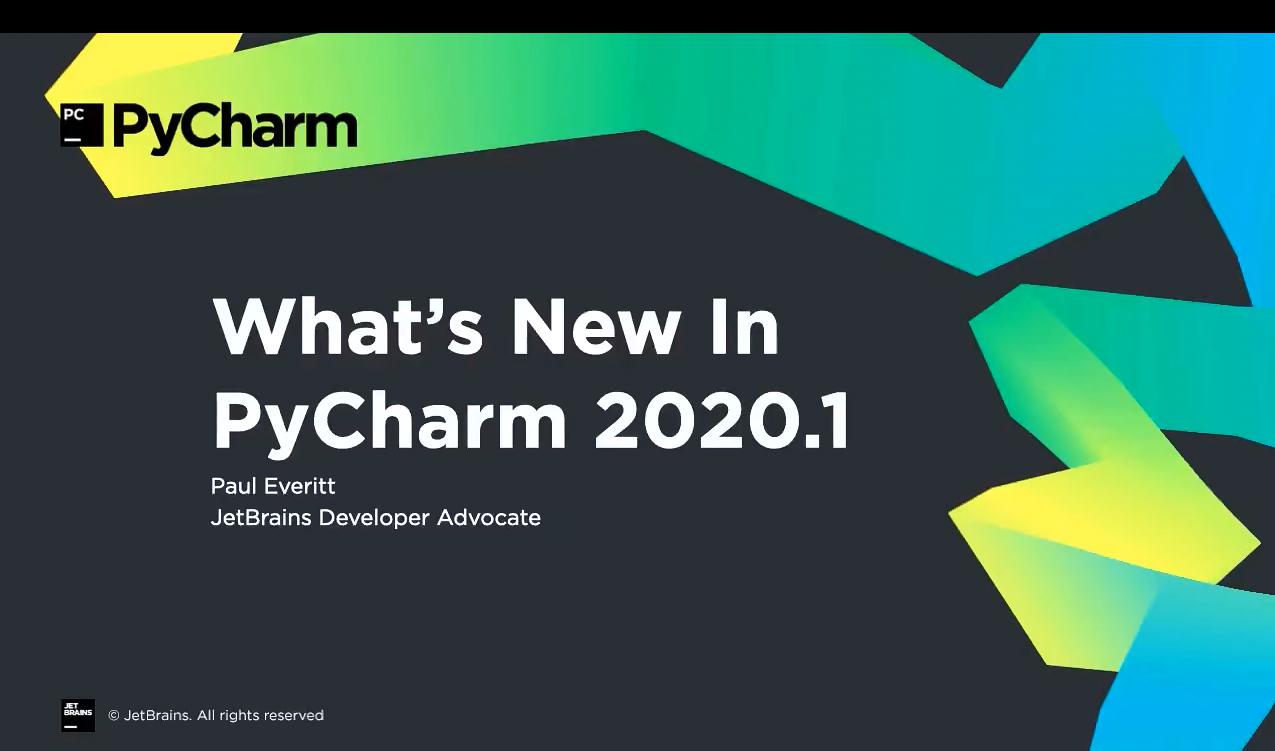 PyCharm视频教程:v2020.1的新增功能