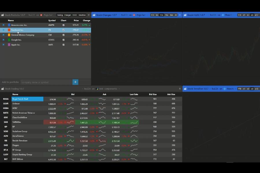 WijmoJS 新特性视频:如何借助 WijmoJS 构建股票投资组合APP