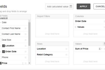 Flexmonster Pivot Table & Charts预览:灵活选择业务字段