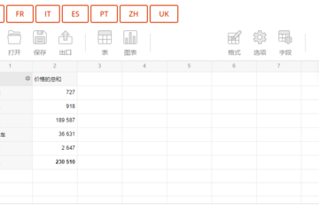 Flexmonster Pivot Table & Charts预览:7国语言预设,还支持自定义语言模板