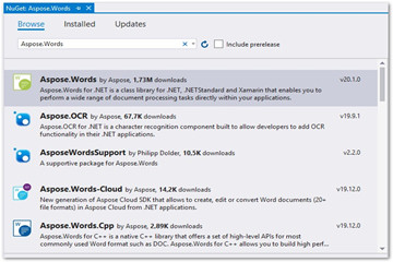 .NET版Word处理控件Aspose.words功能演示:在ASP.NET MVC中创建MS Word编辑器