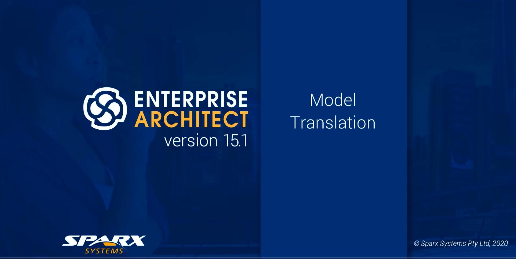 Enterprise Architect版本15.1功能解析(二):将模型信息翻译成多种不同的语言