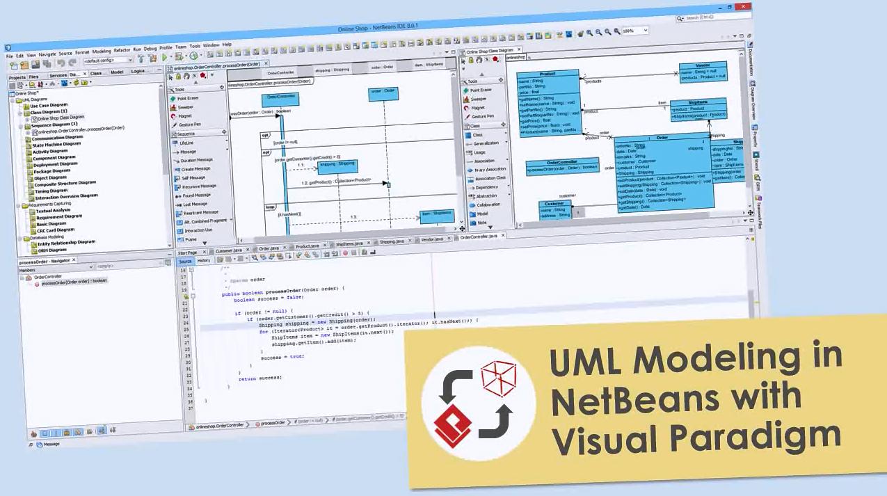 Visual Paradigm视频教程:使用Visual Paradigm在NetBeans中执行UML建模
