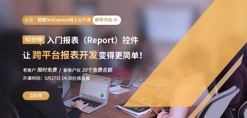 DevExpress 5月报表开发公开课