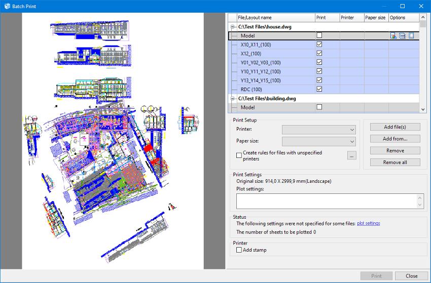 通用CAD图纸处理软件ABviewer2020最新基础教程:一次打印多个文件的规则
