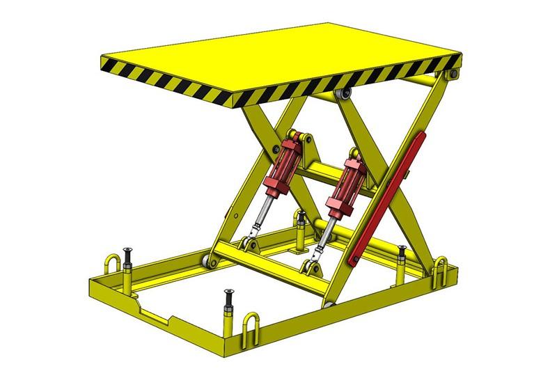 SolidWorks模型:剪叉式升降机
