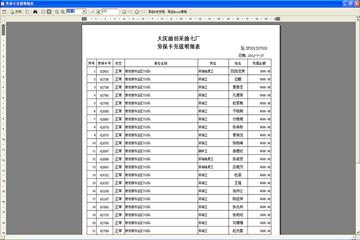 报表ActiveReports应用案例:大庆油田-物资供应仓储管理系统