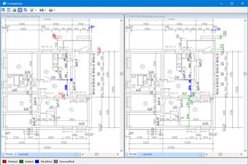 通用CAD图纸处理软件ABviewer2020最新基础教程:如何比较两个DWG或DXF工程图