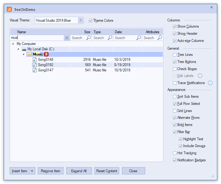 MFC界面库BCGControlBar v30.4新功能全解:仪表控件/网格 & 报表控件等