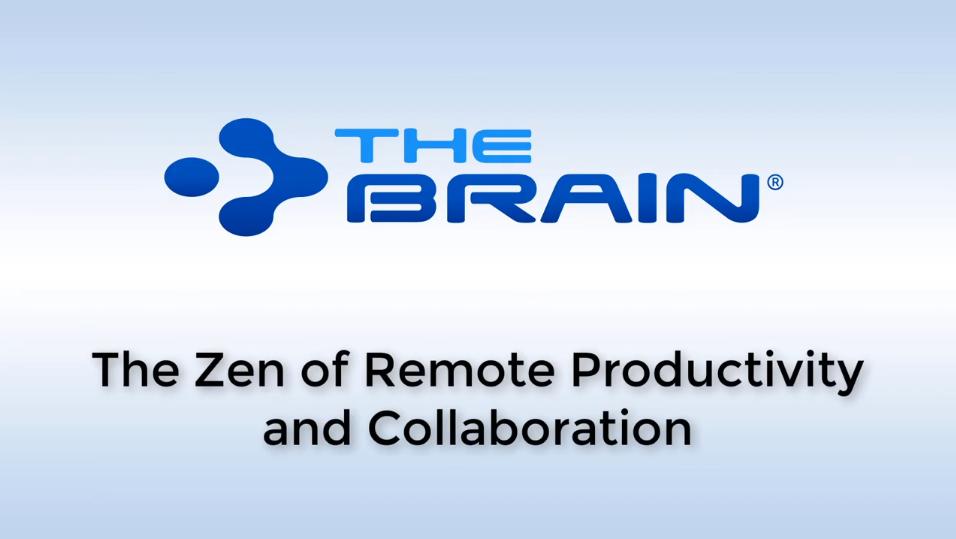 远程办公大势所趋!看专家如何使用思维导图软件TheBrain让远程办公生产力最大化