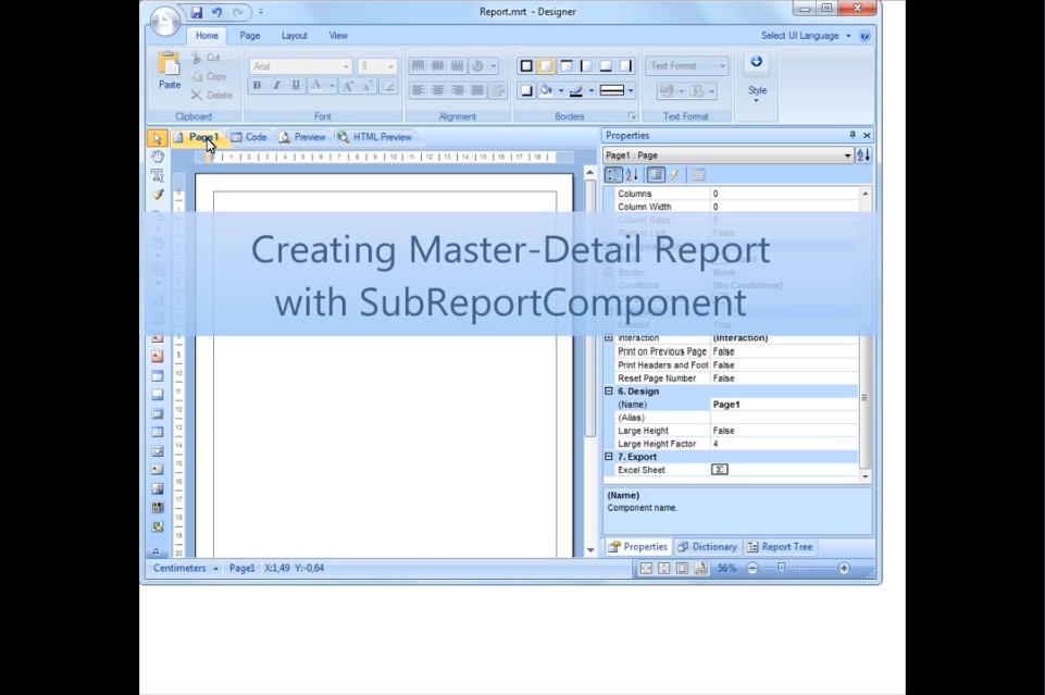 Stimulsoft Reports.Net视频教程:使用子报表组件创建主从报表