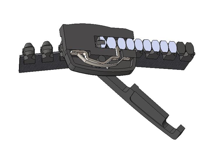 SolidWorks模型:拉链