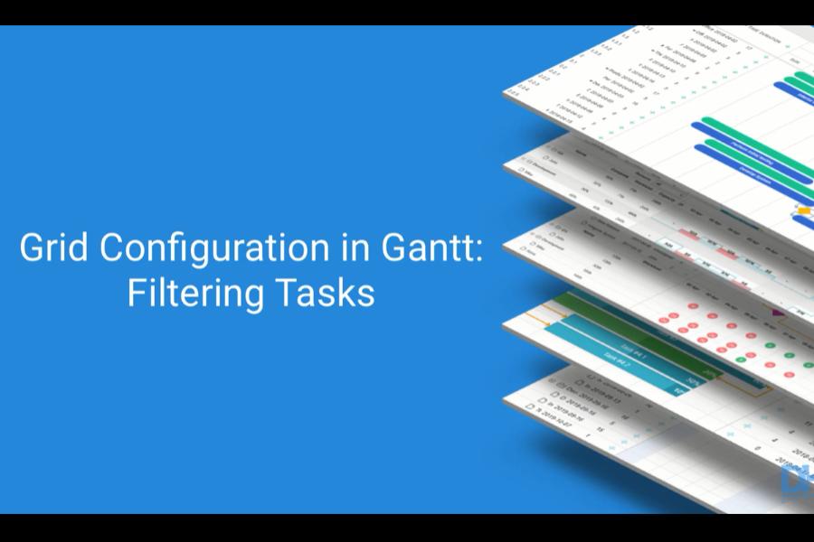 dhtmlxGantt视频教程:如何在JavaScript甘特图的网格中过滤任务
