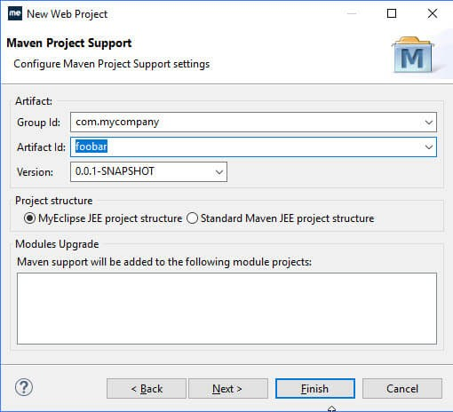 Myeclipse2020上创建Maven项目和管理