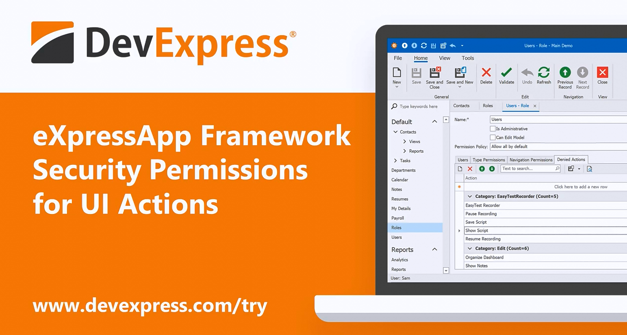 【官方视频】DevExpress XAF v20.1:UI操作的安全权限