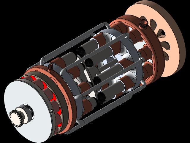 SolidWorks模型:8缸斯特林发动机
