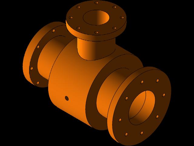 SolidWorks模型免费下载:管道接头