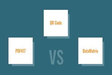 Dynamsoft Barcode Reader 使用教程:QR码,PDF417和DataMatrix有什么区别?