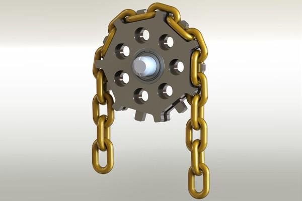 SolidWorks模型免费下载:链条传动模型