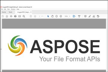 PDF处理控件Aspose.PDF功能演示:使用C#将JPG/PNG/TIFF/EMF/BMP图像转换为PDF