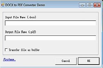 DOCX to PDF Converter v12(for .NET C#/WinForm/ASP.NET, 32/64 Bit)