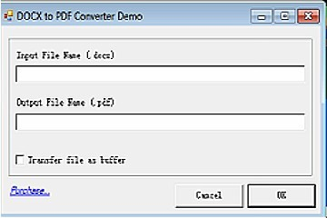 DOCX to PDF Converter v12(for Win32 DLL/ActiveX/MFC/C/C++/ASP