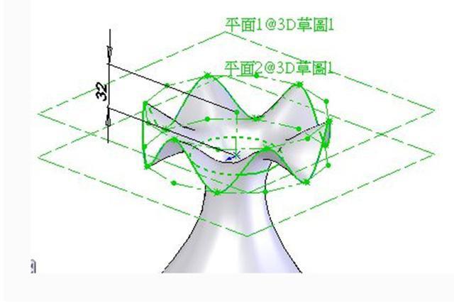 SOLIDWORKS功能之—曲面上的等距