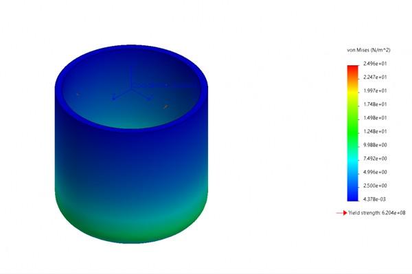 在SOLIDWORKS Simulation中模拟静水压力