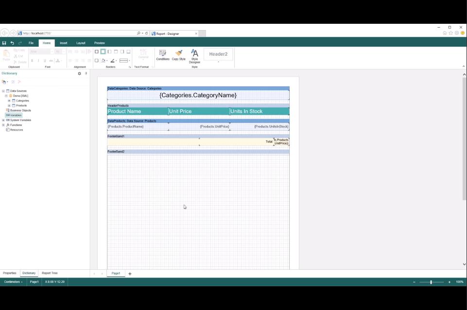Stimulsoft Reports.Web视频教程:如何在报表中使用因变量
