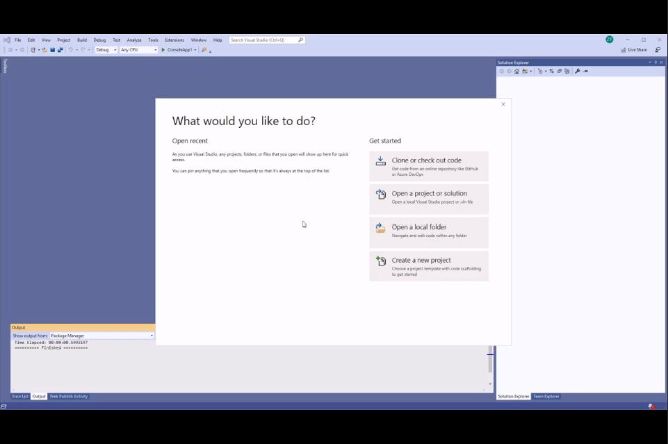 使用仪表板创建.NET Core项目并将其从VS 2019发布到Microsft Azure