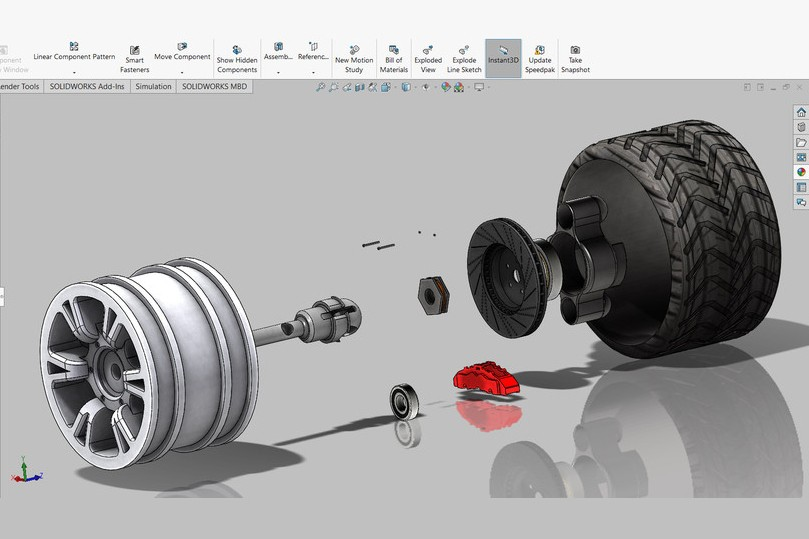 SolidWorks模型免费下载:车轮总成