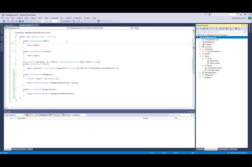 .NET Core stimulsoft仪表板教程:激活仪表板Web Designer
