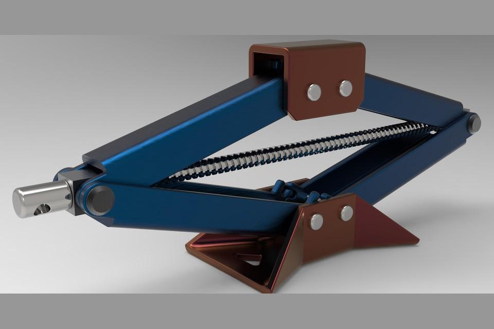 SolidWorks模型免费下载:剪式起重器