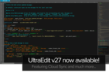 文本编辑器 UltraEdit 大版本V27发布  具有全新的Cloud Sync