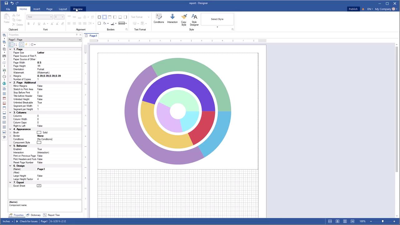 Stimulsoft报表开发工具2020最新视频教程(1):更改甜甜圈系列的宽度