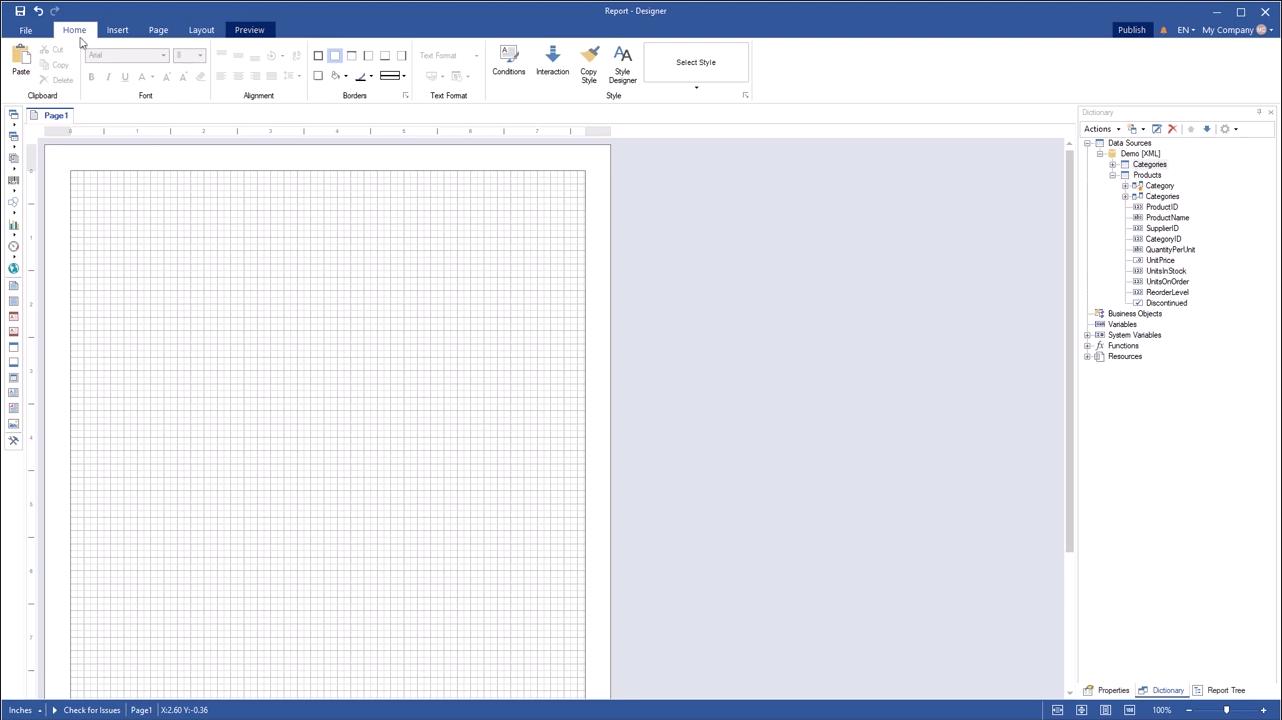 Stimulsoft报表开发工具2020最新视频教程(2):在报表中使用迷你图