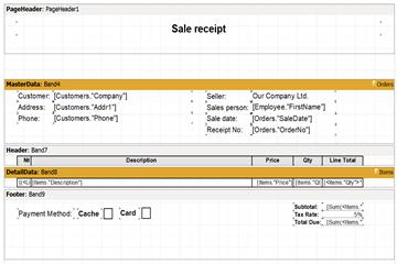 可视化报告生成器FastReport VCL功能指南:从Delphi应用程序创建销售收据