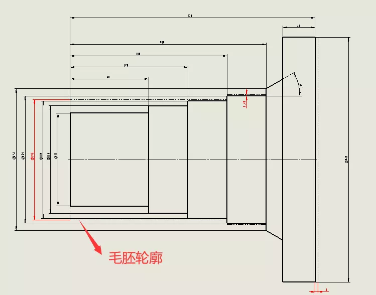如何在同一工程视图上显示零件和毛坯件? | 操作视频