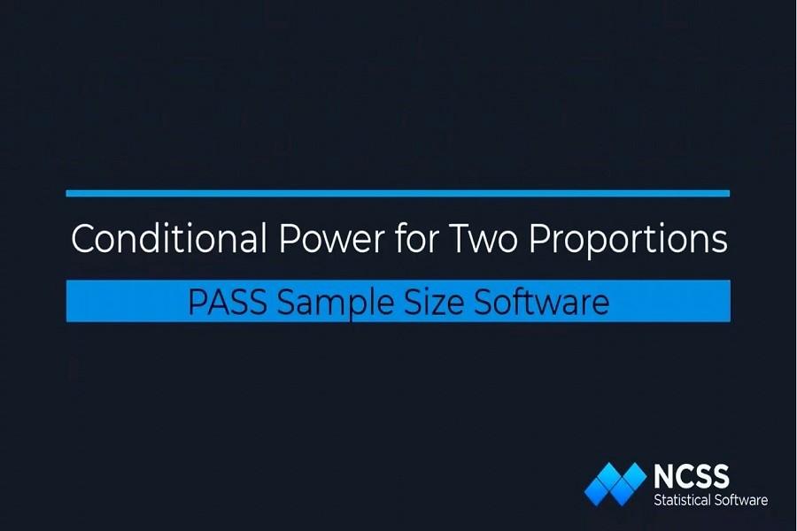 PASS教学示例:PASS中两个比例的条件功率