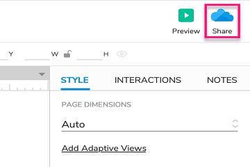 原型设计工具Axure RP参考(四):查看和共享您的原型