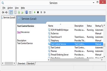 TX Text Control系列教程—Windows Forms:如何创建Windows Service