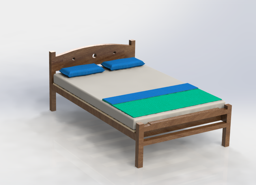 SolidWorks模型免费下载:家具(床)