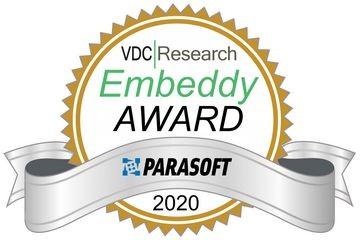Parasoft凭借其人工智能(AI)和机器学习(ML)创新赢得2020 VDC研究嵌入式奖