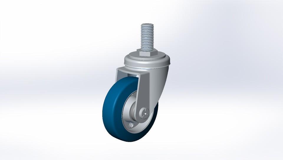 【SolidWorks模型】脚轮模型免费下载
