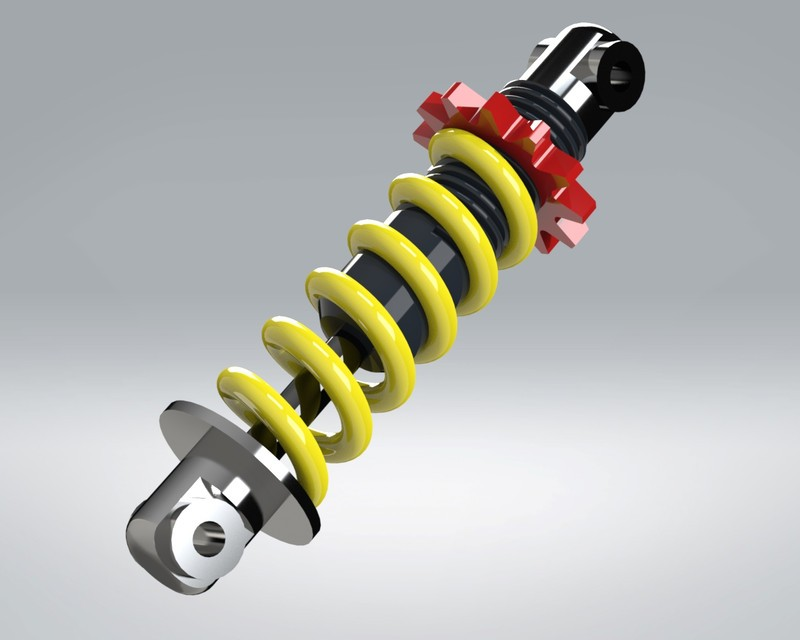 SolidWorks模型免费下载:减震器