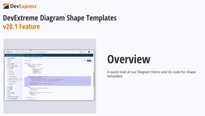 [官方视频]DevExtreme v20.1视频:形状模板